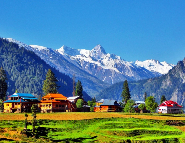 Arang Kel is a village, and tourist spot in the Neelam valley of Azad Kashmir, Pakistan. It is located on the hilltop above Kel at an altitude of 8,379 feet.