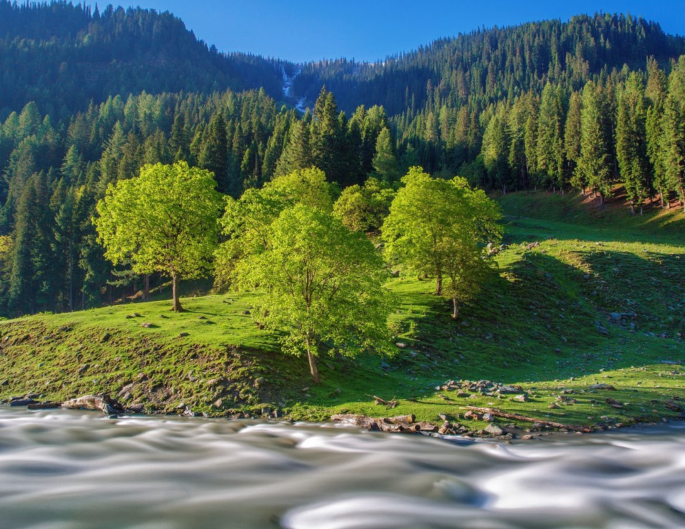 Neelum District, is the northernmost district of Azad Kashmir, Pakistan. Taking up the larger part of the Neelam Valley, the district has a population of 191,000.