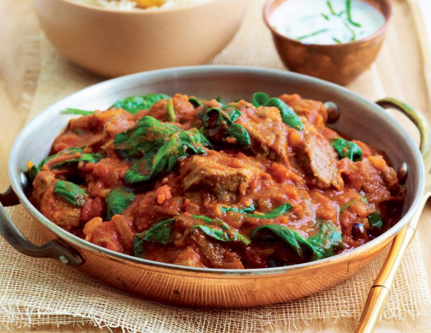 A must try dish for all the lamb or meat lovers, Rogan josh, an aromatic lamb dish is one of the signature recipes of Kashmiri cuisine.